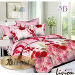 Ранфорс 3D Розовые и красные розы