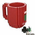 Чашка конструктор Lego красная