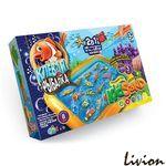 Кинетический песок 2 в 1 настольная игра Клевая рыбалка 7659DT KidSand