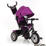 Велосипед детский трехколесный с родительской ручкой Turbo Trike M 3113-18 Фиолетовый