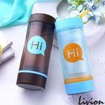 Бутылка для воды стеклянная Hi