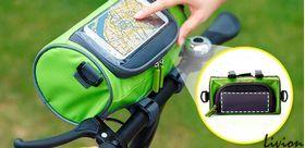 Сумка-органайзер на руль велосипеда Салатовая