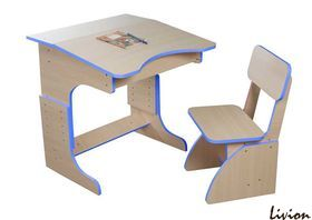 Еко Парта растущая + стульчик, синяя
