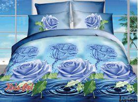 Полиэстер 3D Синие розы