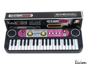 Детский синтезатор пианино орган с микрофоном 37 клавиш MQ014FM