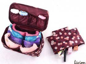 Органайзер для белья и косметики 2 в 1 Qianyecao Travel Бордовый