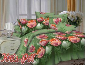 Семейное Полиэстер 3D Кремовые тюльпаны