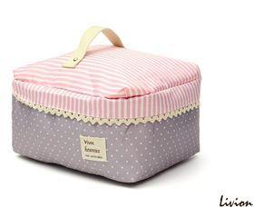Косметичка органайзер для косметики Romantic Розовая в горошек