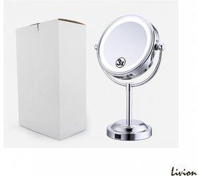 двойное зеркало для макияжа с Led подсветкой 3Х