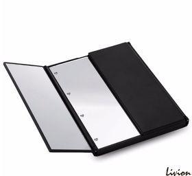 Зеркало для макияжа с  LED подсветкой в виде книжки Черное