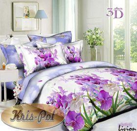 Ранфорс 3D Сиреневые орхидеи