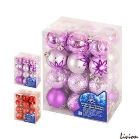 Елочные шарики 6 см 24 шт/кор