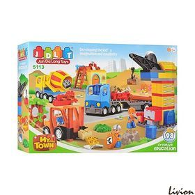 """Конструктор аналог Lego Duplo """"Строительная площадка"""" JDLT (5113)"""