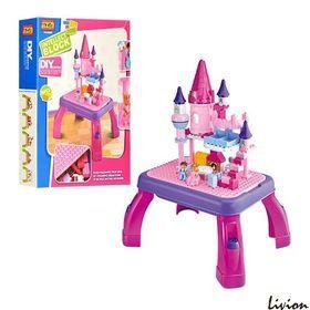 """Конструктор-игровой столик 2 в 1 """"Замок принцессы"""" 76 деталей (3688B)"""