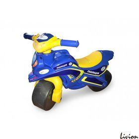 Мотоцикл музыкальный Мотобайк Полиция желто-синий (0139/57)