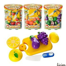 Овощи и фрукты на липучке
