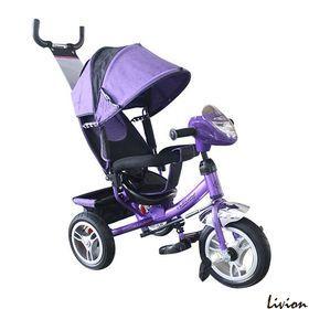 Велосипед детский трёхколесный с родительской ручкой Фиолетовый (M 3115-8HA)