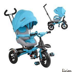Трехколесный велосипед Turbo Trike Синий с родительской ручкой