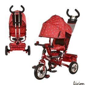 Трехколесный велосипед  Profi Trike Красный с ракушками (М 5361-5)