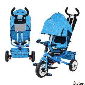 Трехколесный велосипед  Profi Trike Голубой с ракушками (М 5363-1)