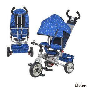 Трехколесный велосипед  Profi Trike  Синий с ракушками (M 5363-6)