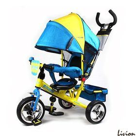 Трехколесный велосипед Turbo Trike Желто-голубой (M5361-01UKR)