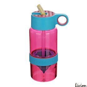 Детская бутылка для воды с поилкой для самодельного лимонада Фиолетовая