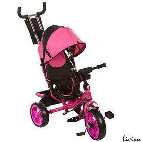 Велосипед детский трехколесный с родительской ручкой Turbo Trike M 3113-6 Розовый