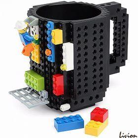 Чашка конструктор Lego Черная