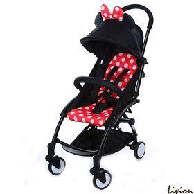 Компактная детская прогулочная коляска Bambi Yoga Микки Маус красная M 3548-2-3