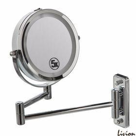 Двойное зеркало для макияжа с креплением на стену 5Х