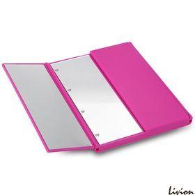 Зеркало для макияжа с  LED подсветкой в виде книжки Малиновое