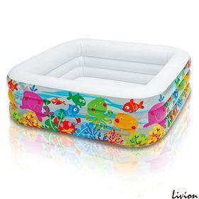 Детский квадратный бассейн Аквариум Intex 57471