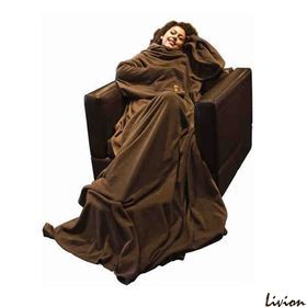 Плед с рукавами Шоколадный
