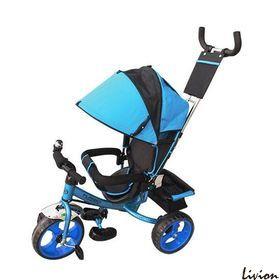 Велосипед детский трёхколесный с родительской ручкой Turbo Trike M 3113-5 Голубой