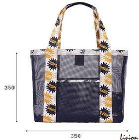 Летняя сумка для пляжа прорезиненая Синяя