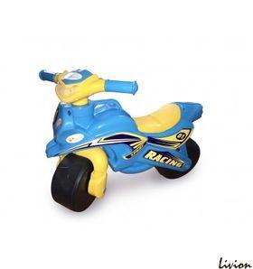 Мотоцикл музыкальный Мотобайк Спорт Желто-голубой