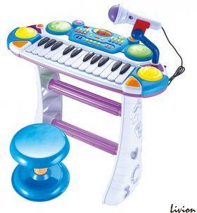 Детское пианино-синтезатор на ножках со стульчиком Joy Toy 7235