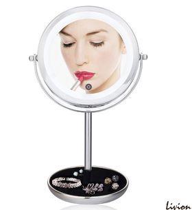 Профессиональное двойное зеркало для макияжа с Led подсветкой 5Х