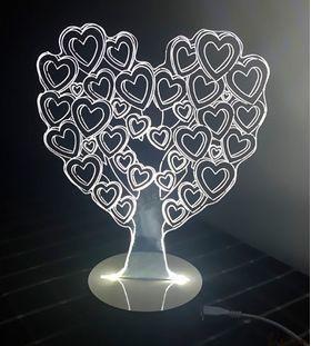 3D светильник Дерево любви