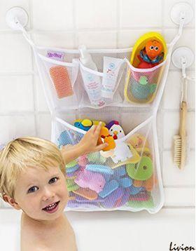 Органайзер для игрушек в ванную на присосках