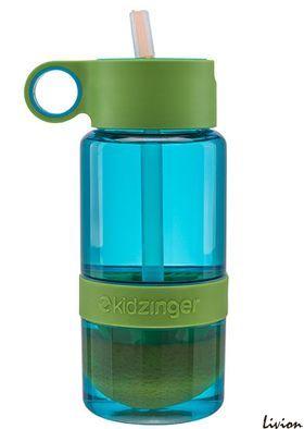 Детская бутылка для воды с поилкой для самодельного лимонада Салатовая