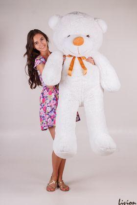 Плюшевый мишка Тедди 160 см Белый