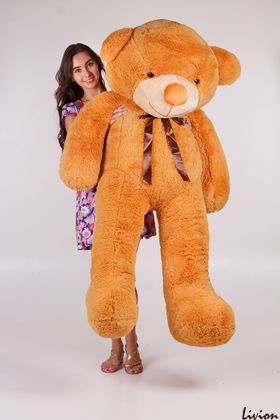 Плюшевый мишка Тедди 200 см Карамельный