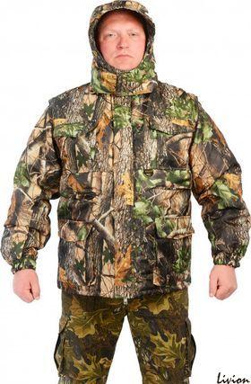 Куртка-жилет Kodor рис. Зеленый лист (0033)
